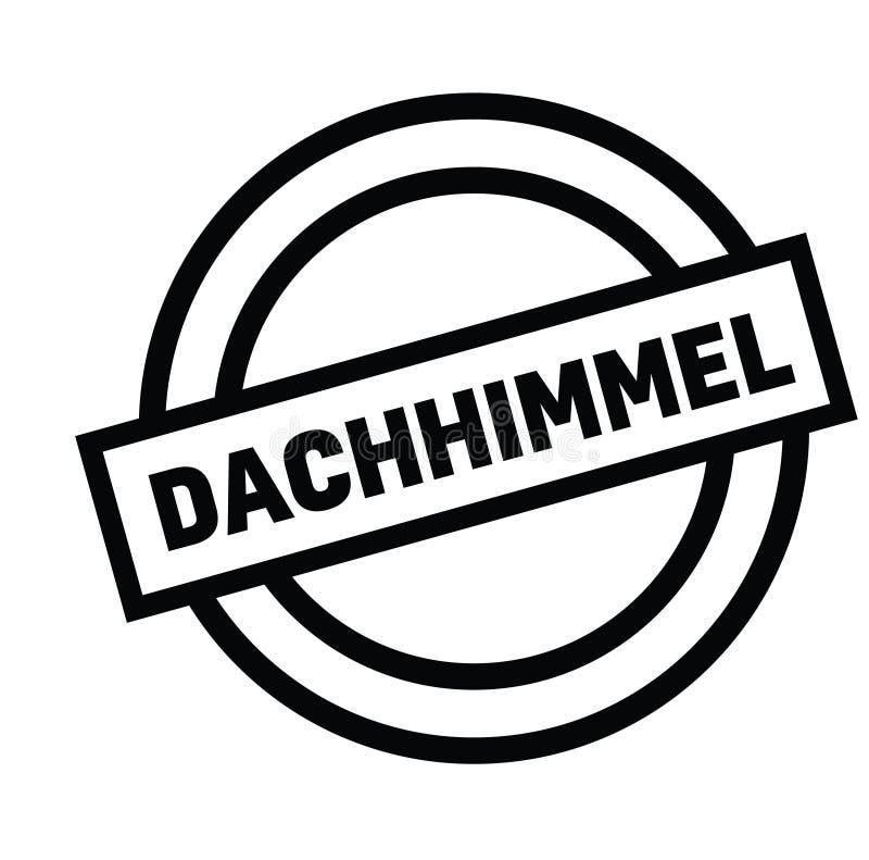 Selo da cabeça de cartaz no alemão ilustração stock