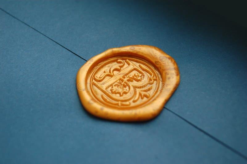 Selo da cera do envelope imagem de stock royalty free