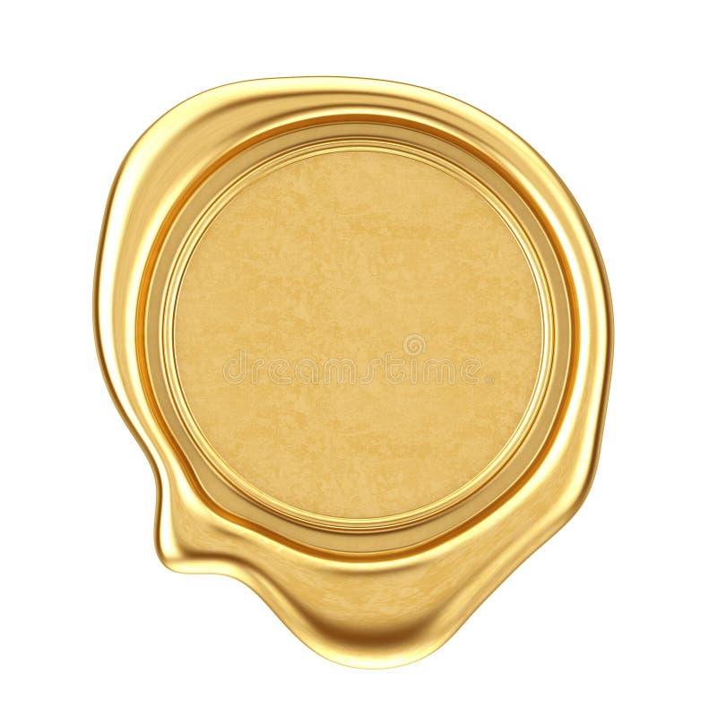 Selo da cera do ouro com espaço vazio para seu projeto rendição 3d imagem de stock