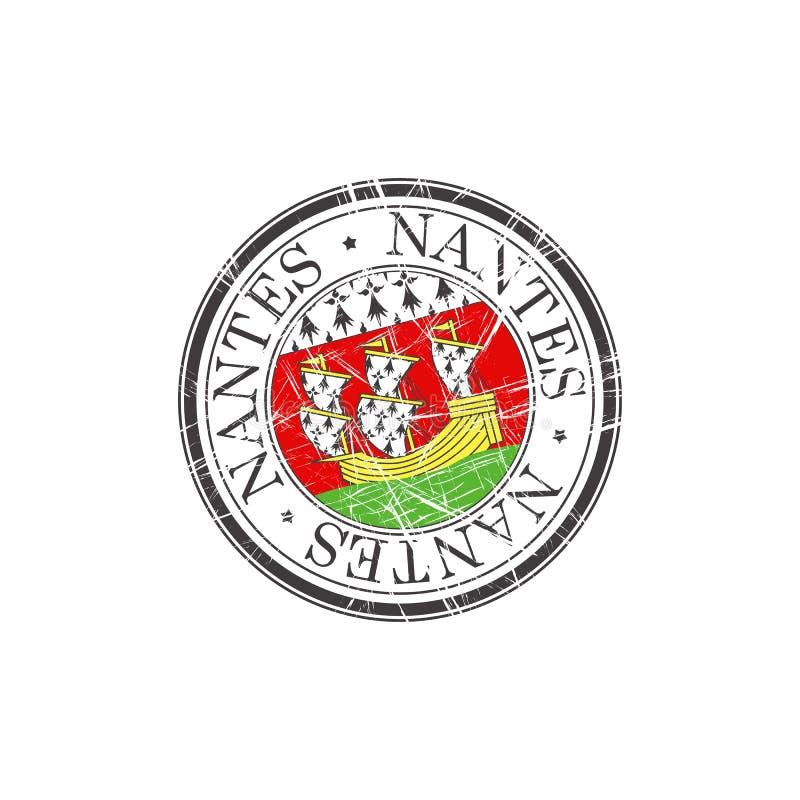 Selo da cidade de Nantes ilustração do vetor