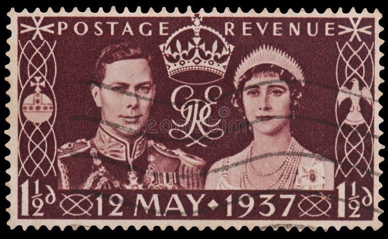 Selo da coroação do rei George VI foto de stock