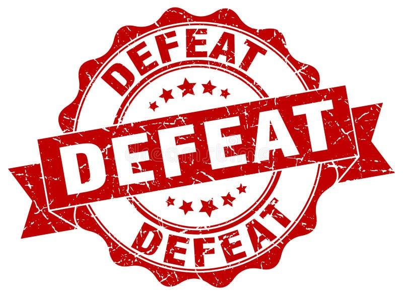 selo da derrota selo ilustração do vetor
