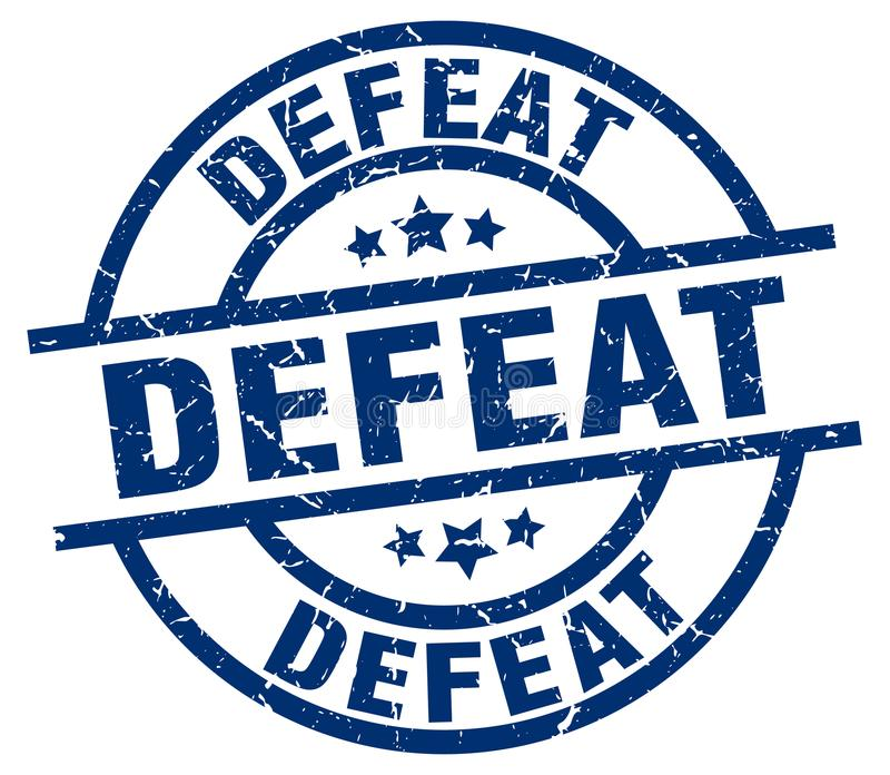 Selo da derrota ilustração stock
