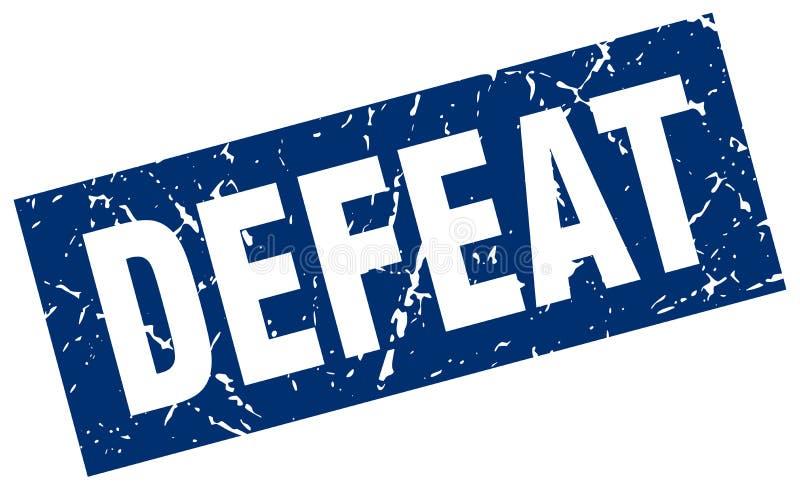 Selo da derrota ilustração do vetor