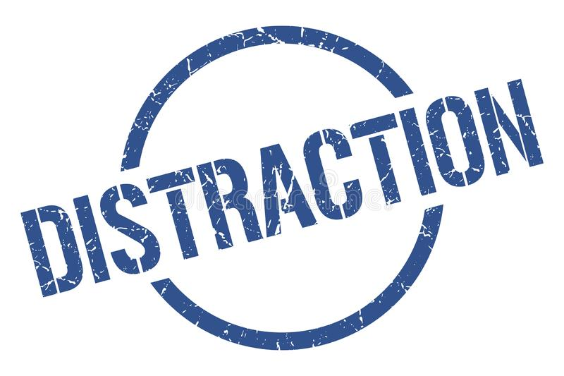 Selo da distração ilustração do vetor