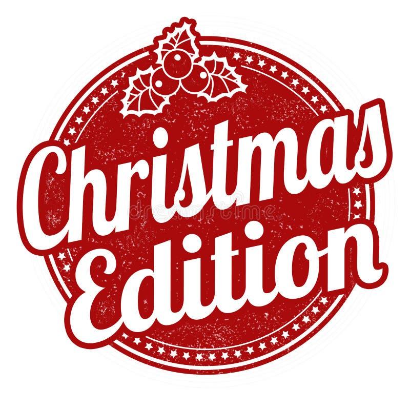 Selo da edição do Natal ilustração do vetor