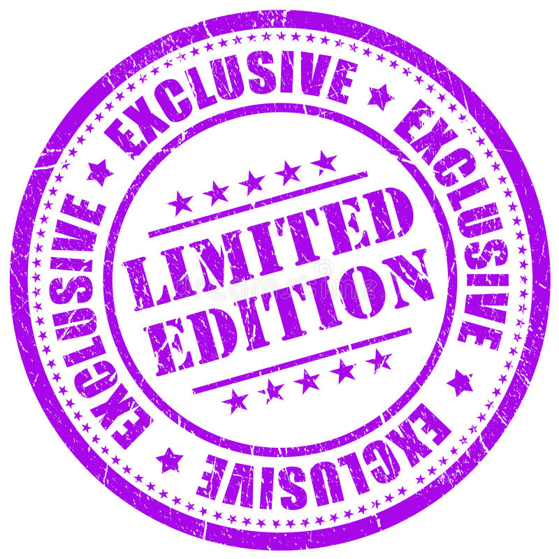 Selo da edição limitada ilustração do vetor