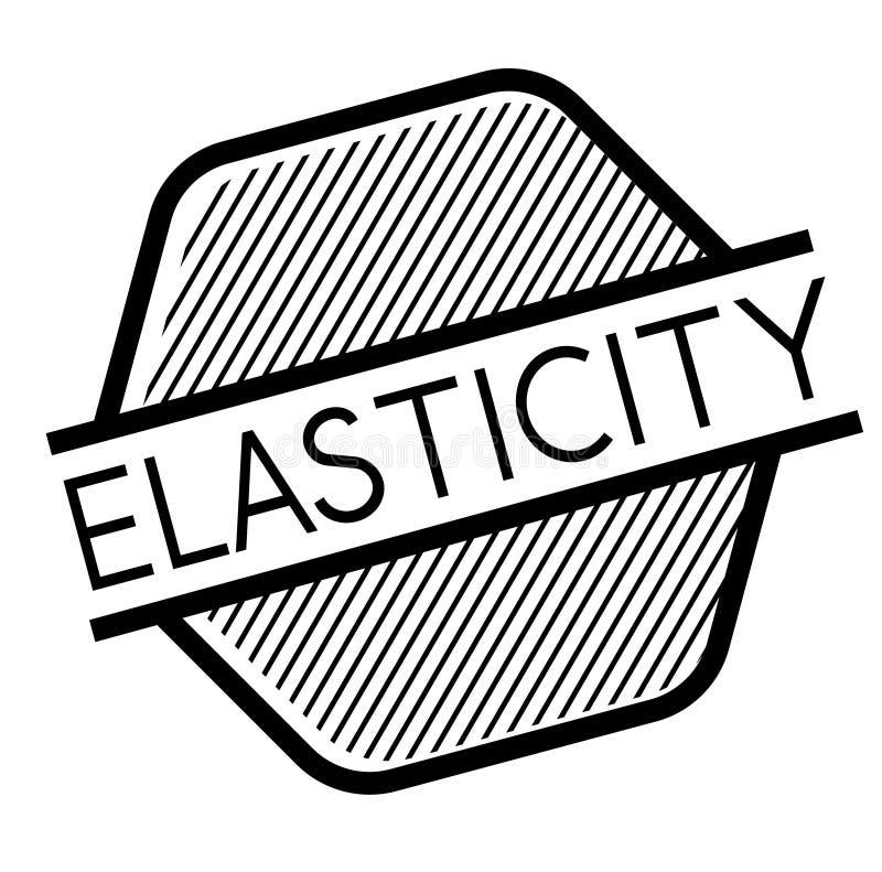 Selo da elasticidade no branco ilustração royalty free