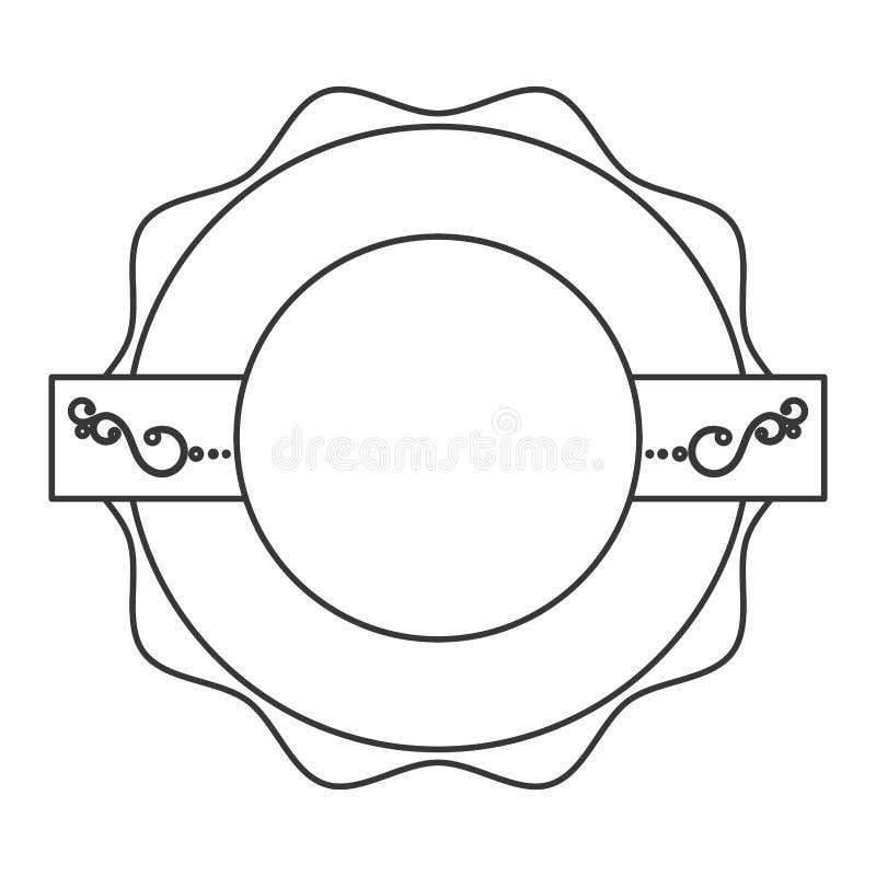 Selo da etiqueta do selo da etiqueta ilustração do vetor