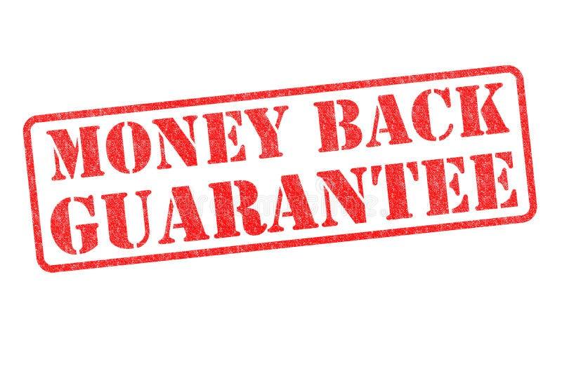 Selo da garantia da parte traseira do dinheiro ilustração do vetor