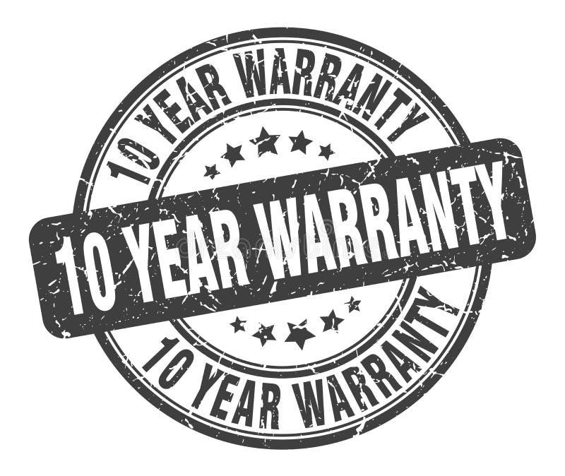 selo da garantia de 10 anos sinal do grunge da garantia de 10 anos garantia de 10 anos ilustração royalty free