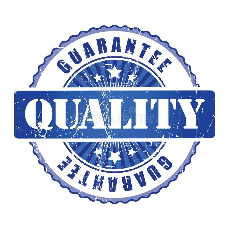 Selo da garantia de qualidade com estrelas ilustração do vetor