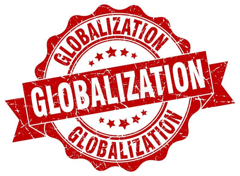 selo da globalização selo ilustração royalty free