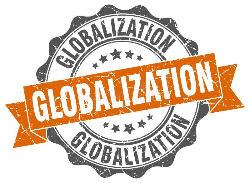 selo da globalização selo ilustração stock