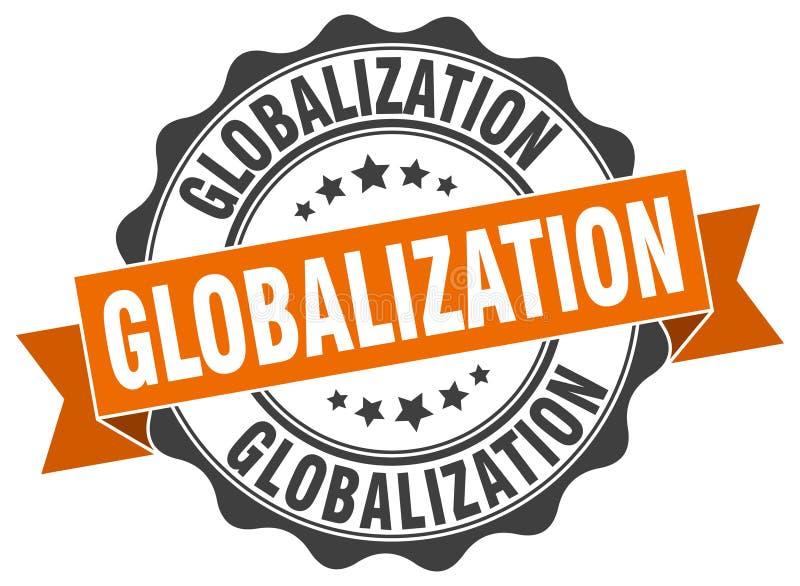 selo da globalização selo ilustração do vetor