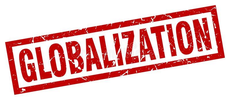 Selo da globalização ilustração royalty free