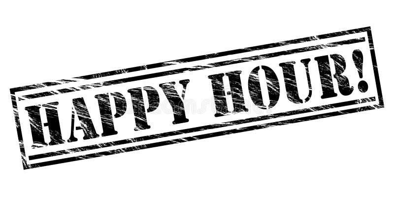 Selo da hora feliz ilustração stock