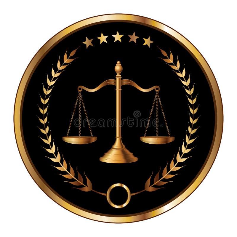 Selo da lei ou da camada ilustração royalty free