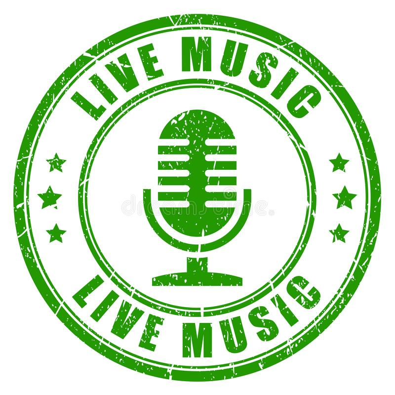 Selo da música ao vivo ilustração stock