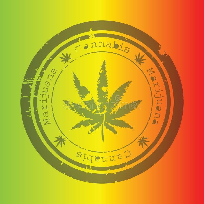 Selo da marijuana ilustração royalty free