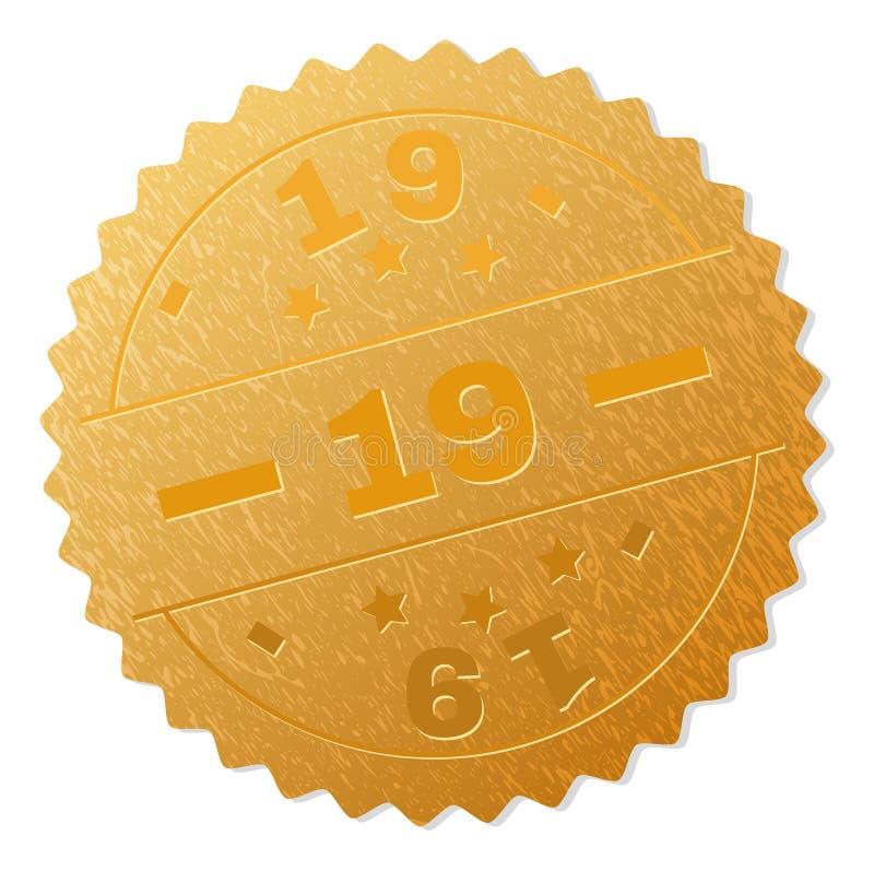 Selo da medalha do ouro 19 ilustração stock