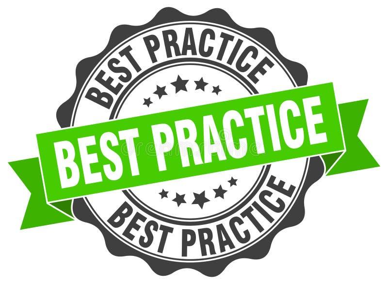 Selo da melhor prática ilustração stock