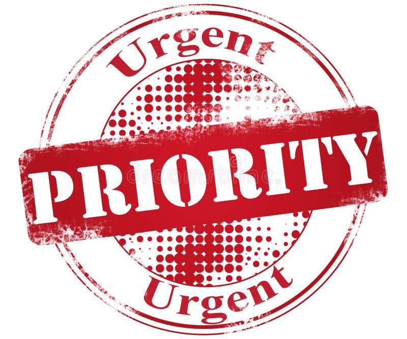 Selo da prioridade ilustração royalty free