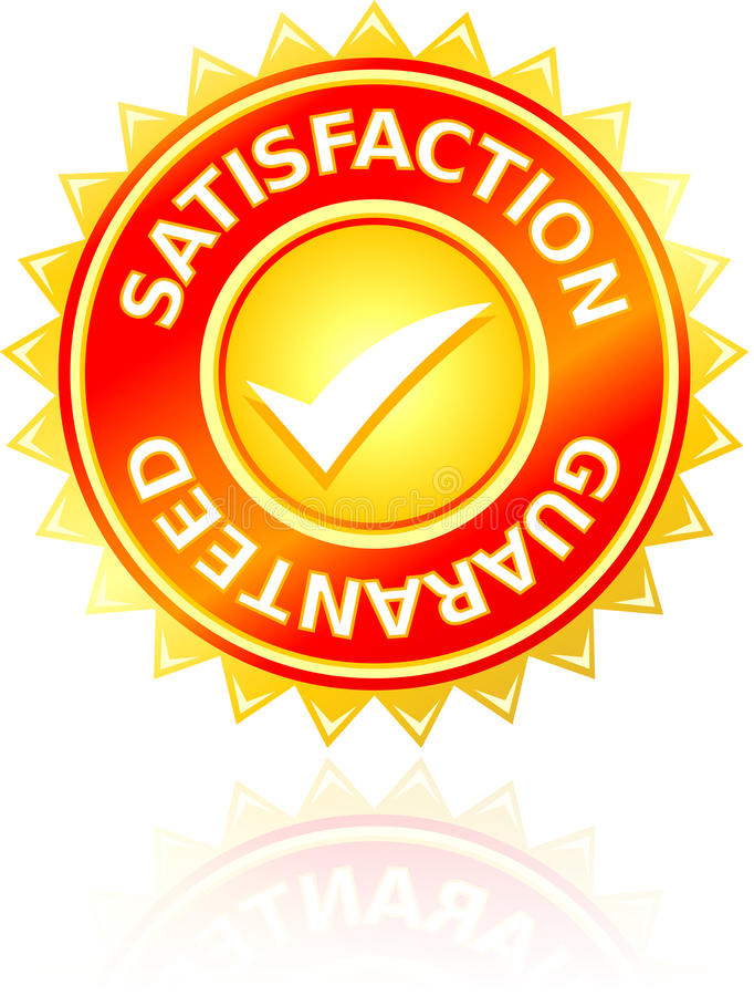 Selo da satisfação ilustração stock
