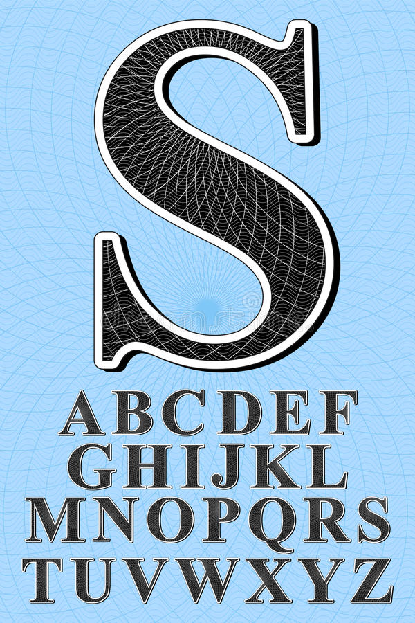 Selo da segurança do alfabeto ilustração stock
