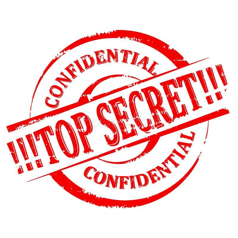 Selo danificado - extremamente secreto - confidencial - vetor fotos de stock