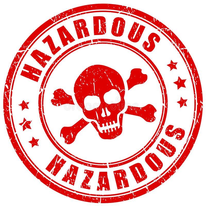 Selo de advertência do vetor do material perigoso ilustração stock