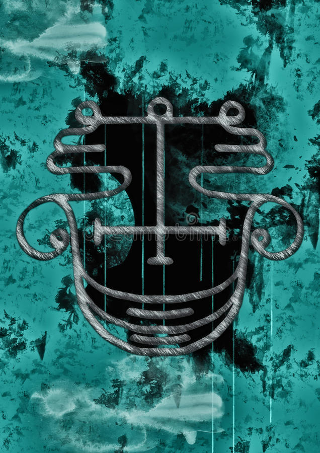Selo de Agares ilustração do vetor
