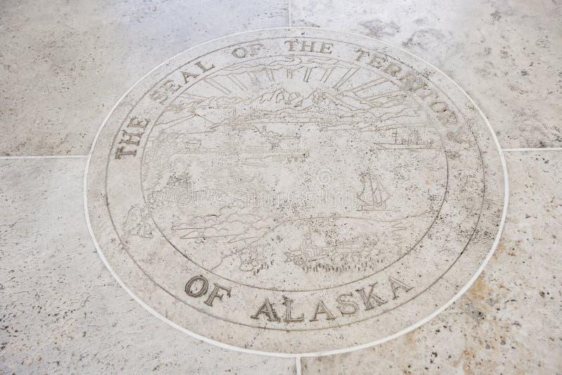 Selo de Alaska em Fort Bonifacio, Manila, Filipinas foto de stock
