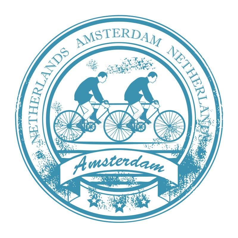 Selo de Amsterdão ilustração royalty free