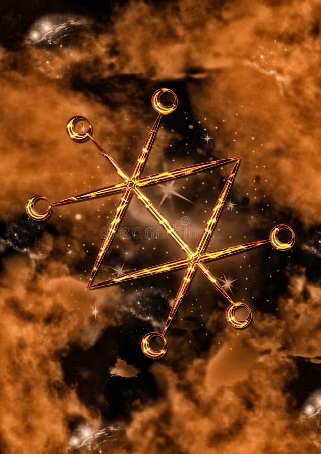 Selo de Azazel ilustração do vetor