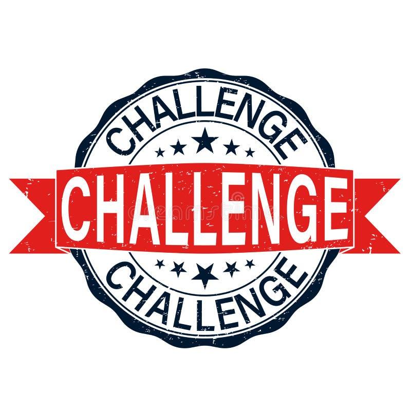 Selo de borracha da Web do desafio vermelho com estrelas ilustração do vetor