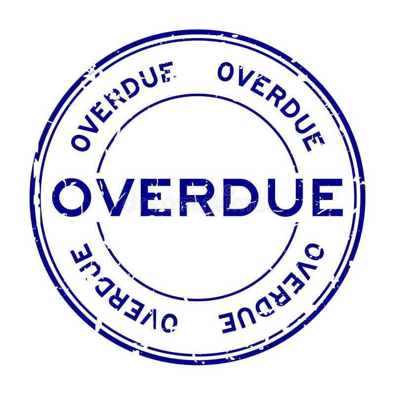 Selo de borracha do selo do círculo expirado azul do Grunge no fundo branco ilustração do vetor