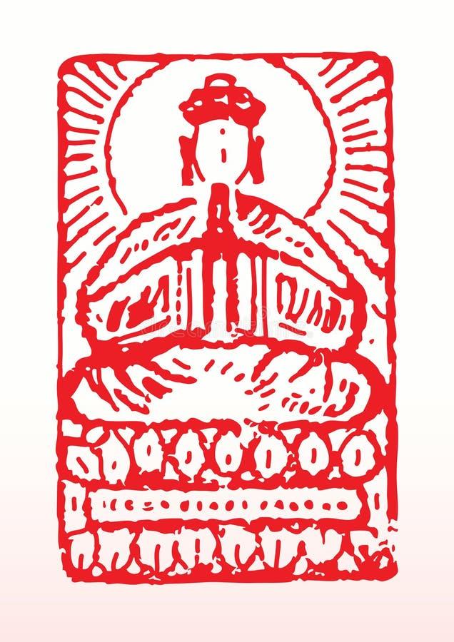 Selo de Buddist ilustração stock