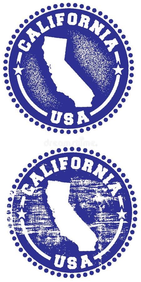 Selo de Califórnia EUA ilustração stock