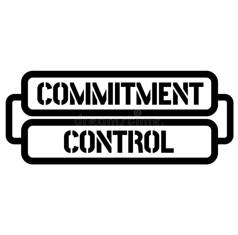 Selo de controle do compromisso ilustração stock