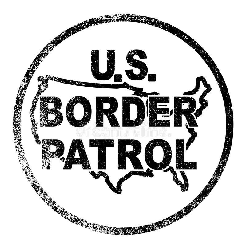 Selo de controlo de fronteiras do Estados Unidos ilustração royalty free