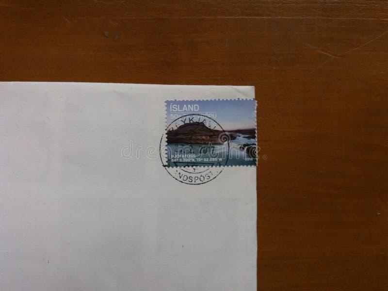 Selo de correio da ilha imagens de stock royalty free