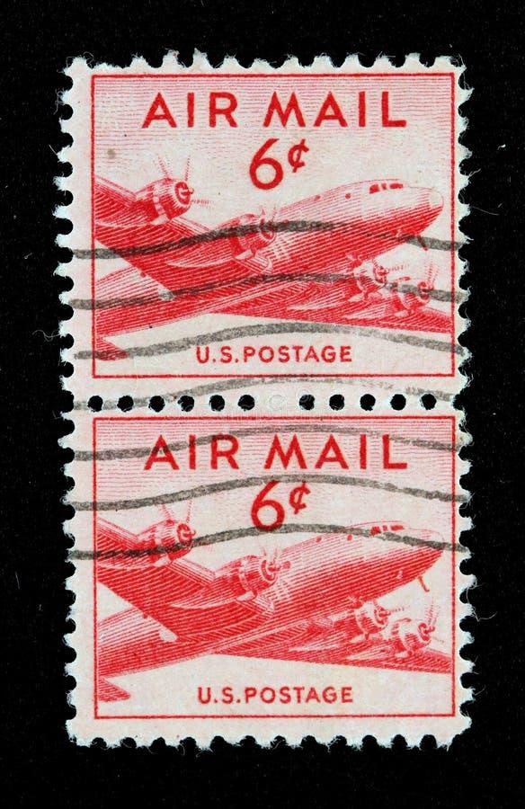 Selo de correio do ar dos E.U. imagens de stock