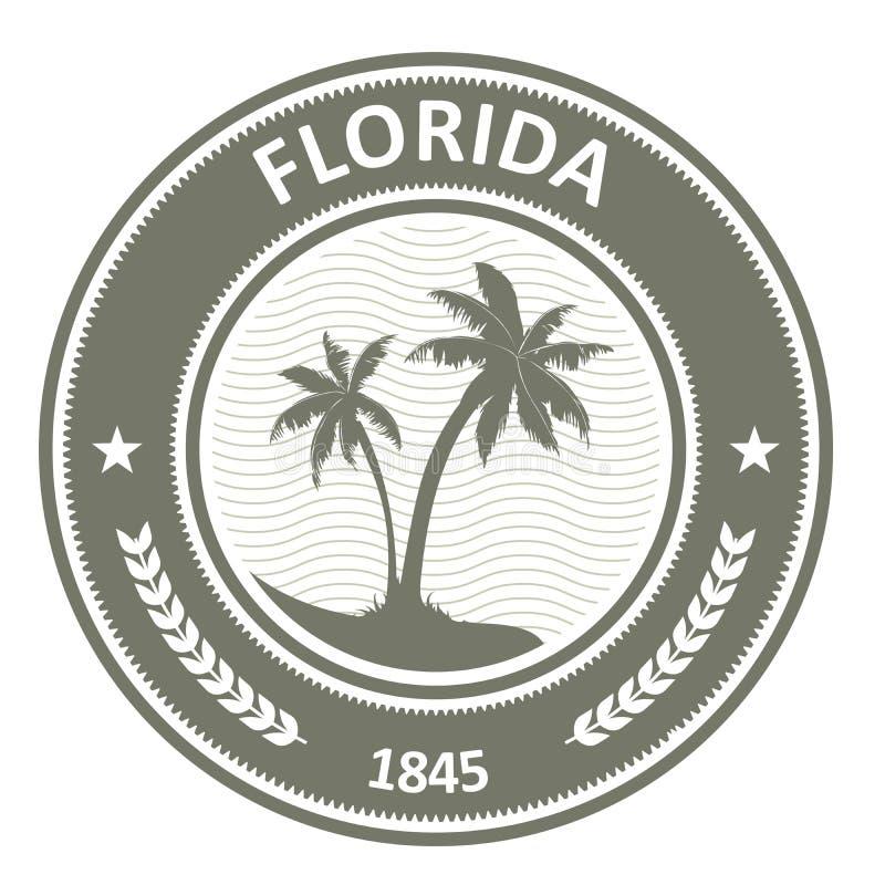 Selo de Florida - etiqueta com palmeiras ilustração do vetor