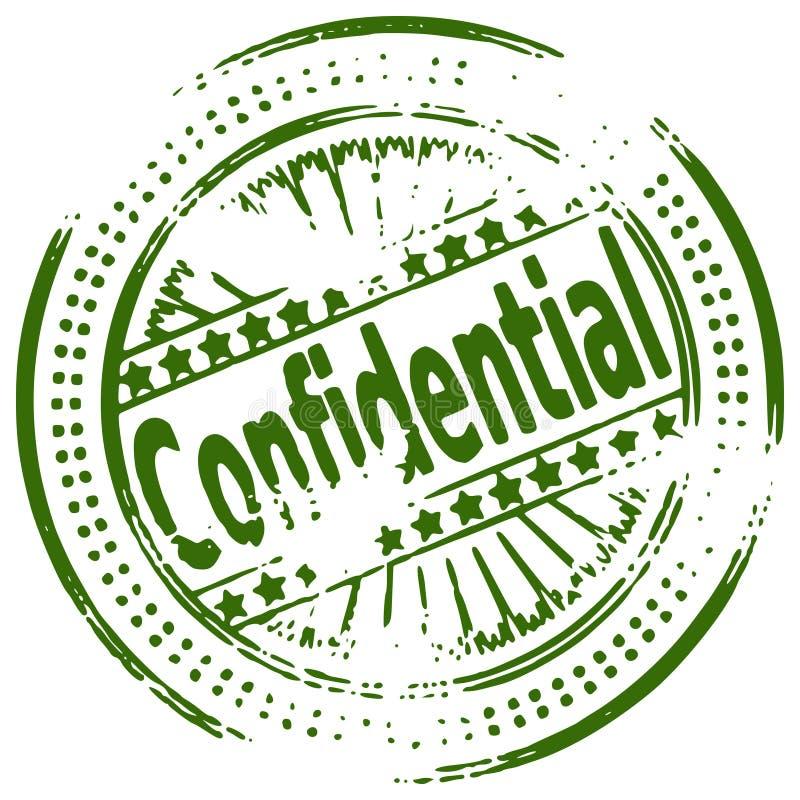Selo de Grunge CONFIDENCIAL ilustração royalty free