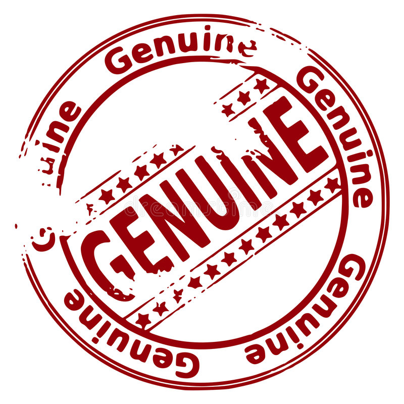 Selo de Grunge GENUÍNO ilustração royalty free