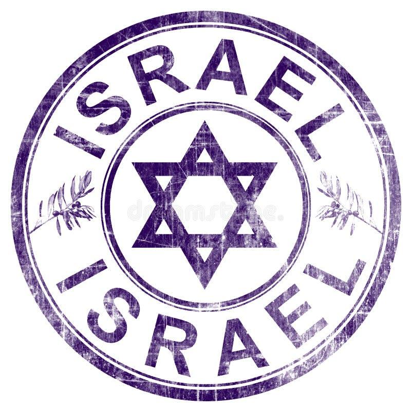 Selo de Israel ilustração stock