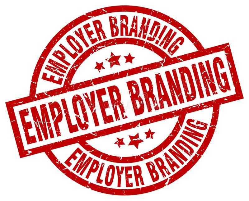 Selo de marcagem com ferro quente do empregador ilustração royalty free