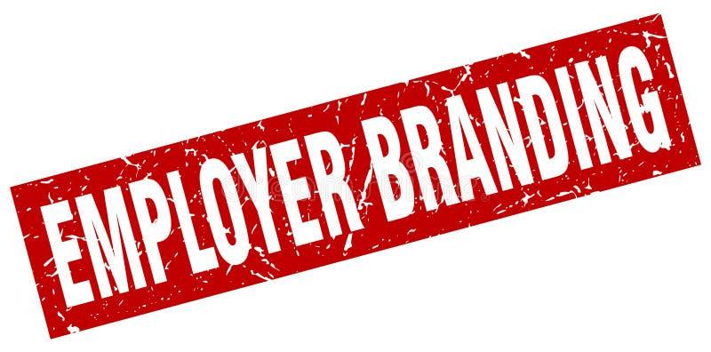 Selo de marcagem com ferro quente do empregador ilustração stock