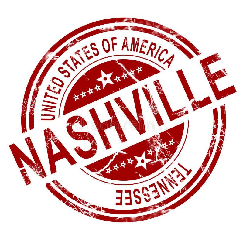Selo de Nashville com fundo branco ilustração stock